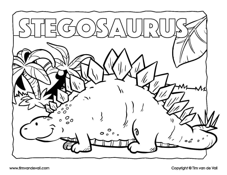 stegosaurus coloring page # 1