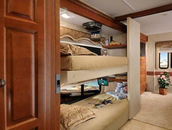 Four Winds Hurricane Class A Motorhome Review Roaming Times Bunk Bed Designs Bunk Beds Modern Bunk Beds