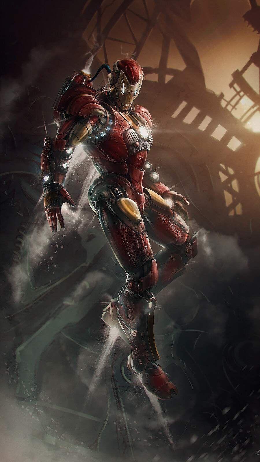 Iron Man Steampunk Iphone Wallpaper Em 2020 Herois Marvel Marvel Herois