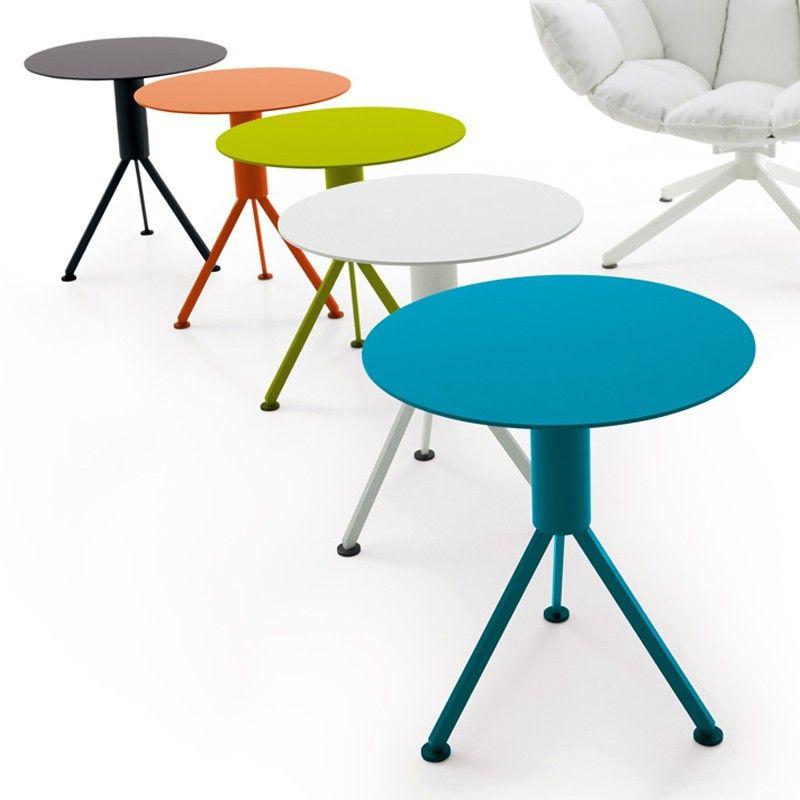 Round 3 Round Coffee Table Made Of Metal Cm ø80x23h: B&B ITALIA OUTDOOR