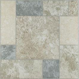 Self Adhesive Floor Tile Grey Tan Marble Pattern 20 Pack Tile Floor Marble Block Vinyl Flooring