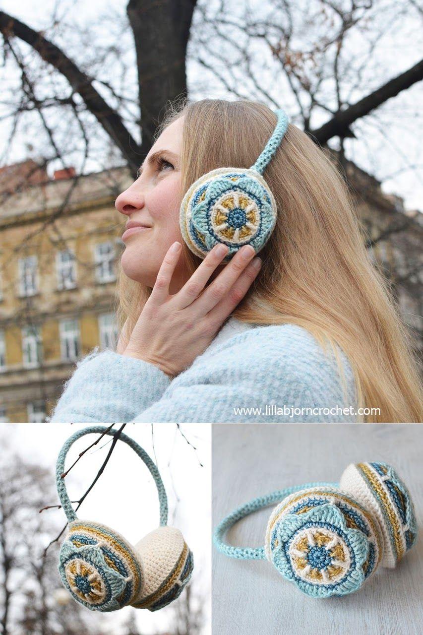 Floral Ear Muffs: Free Crochet Pattern | LillaBjörn\'s Crochet World ...