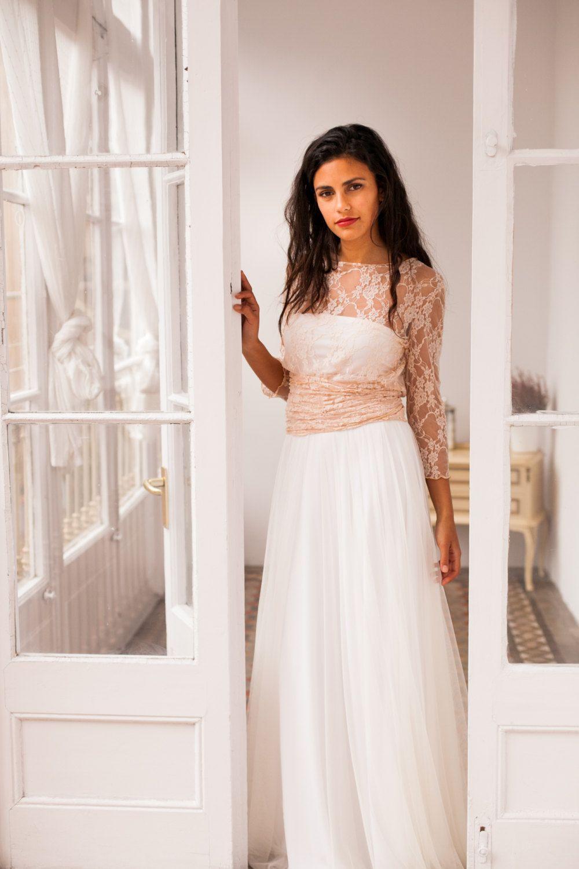 Tulle skirt, detachable tulle skirt for long dress