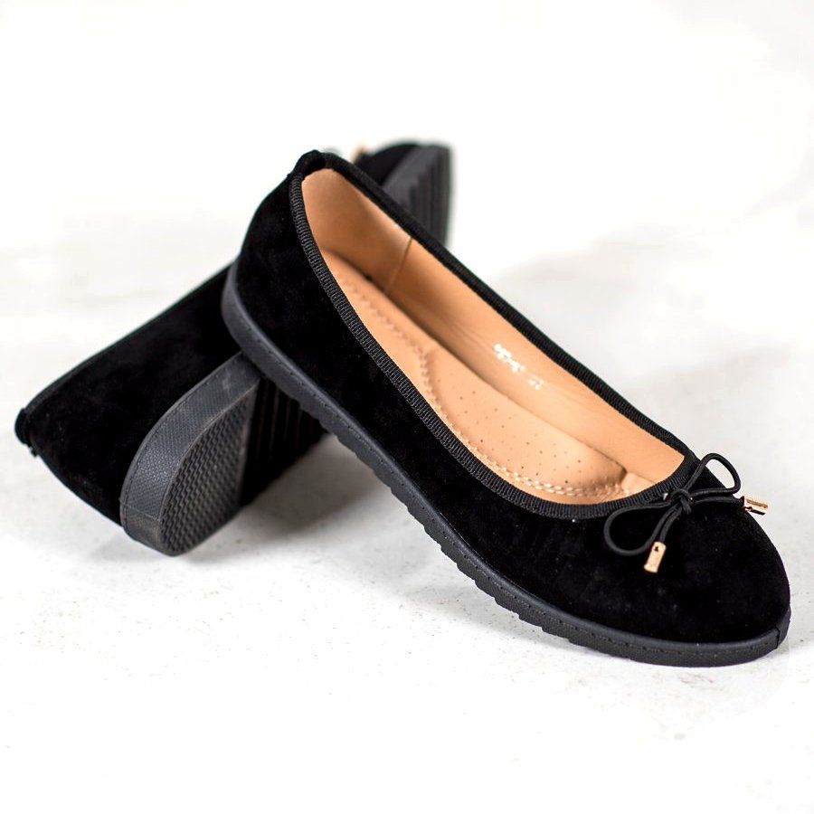 Sixth Sense Ballerina With Bow Black Types Of Heels Women Shoes Ballerina