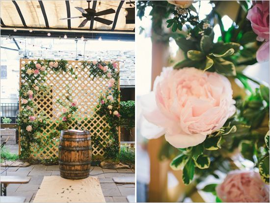 Rose Covered Trellis Backdrop Weddingchicks