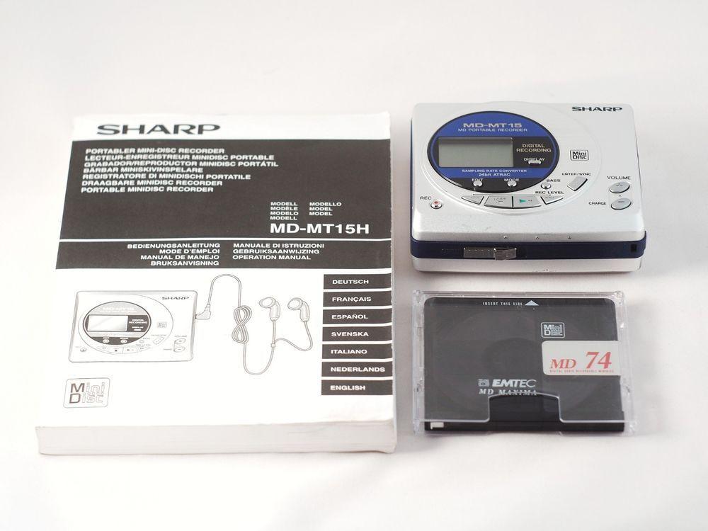 Sharp MD-MT15S Portable MiniDisc Player/Recorder Portable Audio ...