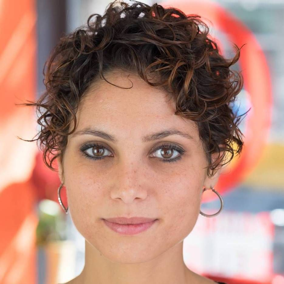 Standout Curly and Wavy Pixie Cuts  Wavy pixie cut Wavy pixie
