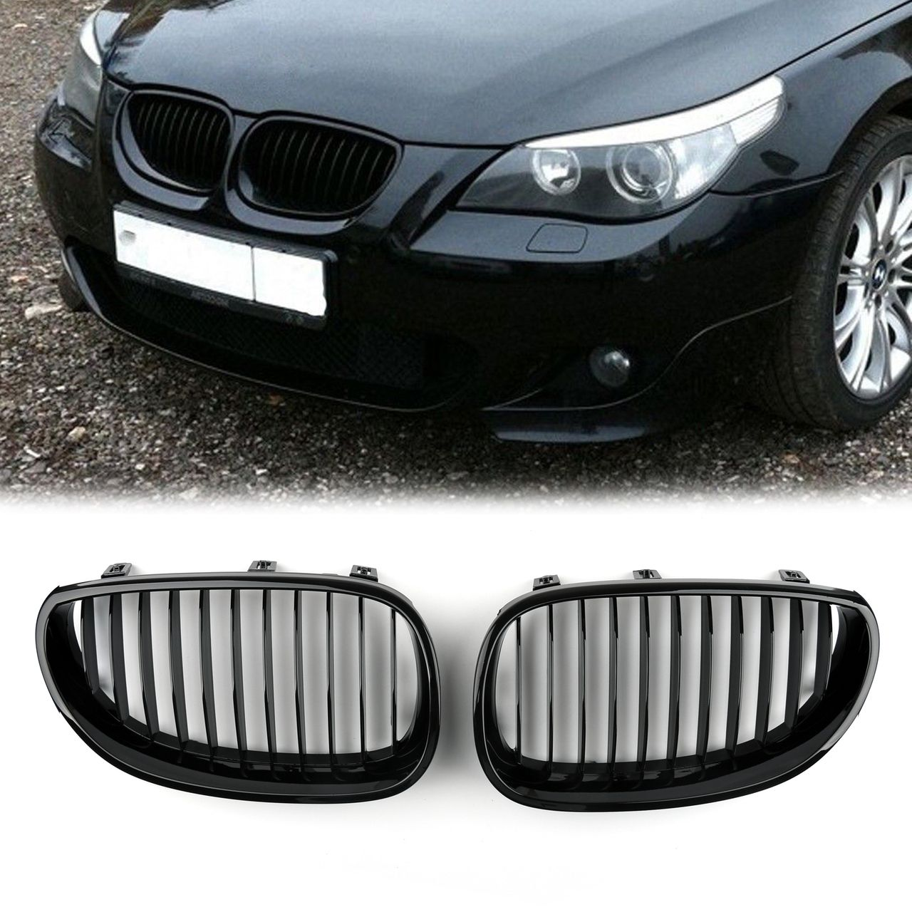 Mad Hornets Kidney Grille Bmw E60 E61 5 Series 2003 2010 Gloss
