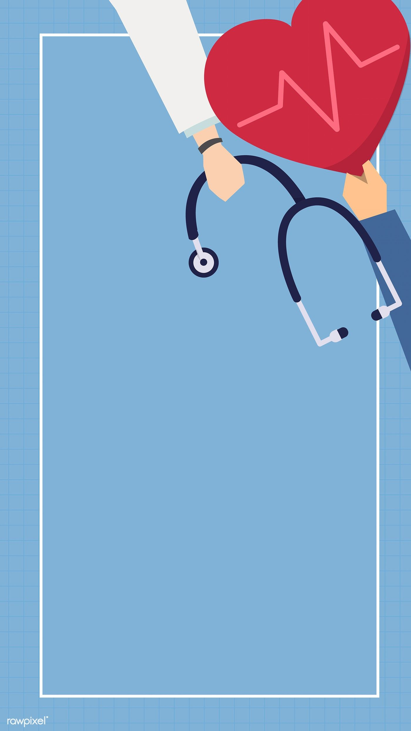 Download Premium Vector Of Doctor And Hospital Themed Phone