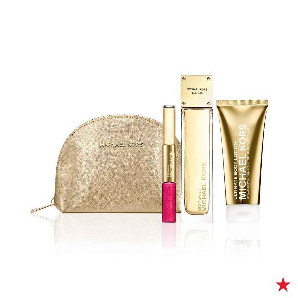 e8219cb87b61 Calling all on-the-go glam girls! Michael Kors  Glam Jasmine Travel Set  includes every beauty must-have for the jet setting gal in a gorgeous