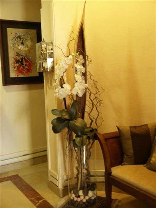 Jarrones Altos De Suelo Buscar Con Google Jarrones Decorativos Decoracion Flores Artificiales Decoracion De Floreros