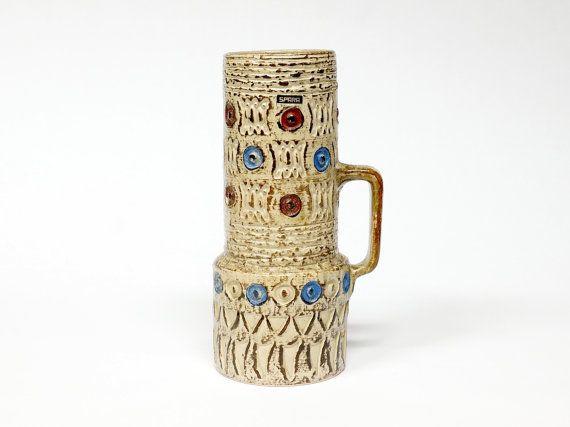 Spara Mid Century West German Handled Vase By Halidun Kutlu