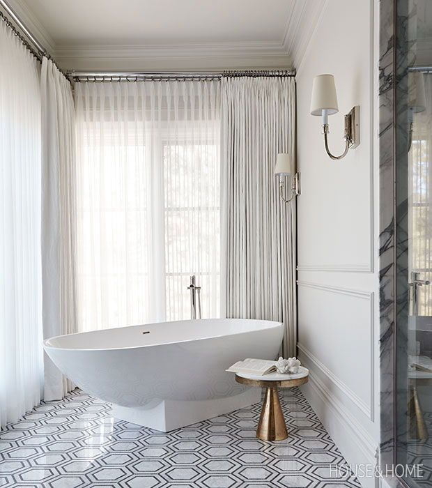 see stunning spaces by h\u0026h\u0027s designer of the year, nam dang mitchellto make the principal bathroom feel lush, nam framed the tub in soft, floor to ceiling drapes photographer colin way designer nam dang mitchell