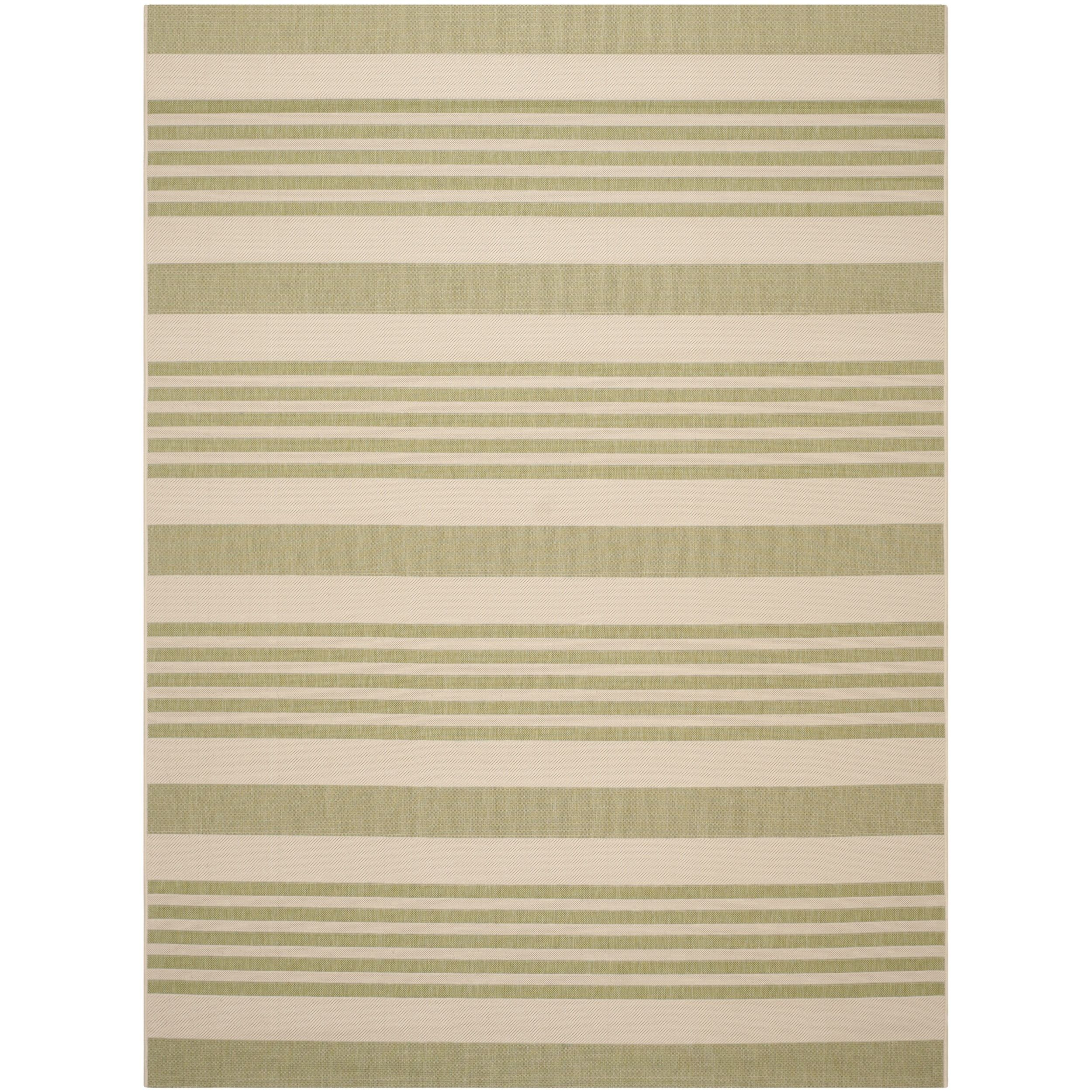 Safavieh Courtyard Stripe Beige Sweet Pea Indoor Outdoor Rug 9 X 12 Com Ping The Best Deals On 7x9 10x14 Rugs