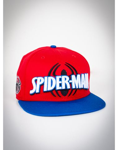New Era Spiderman Logo Snapback Hat  c9cf6bbcad1