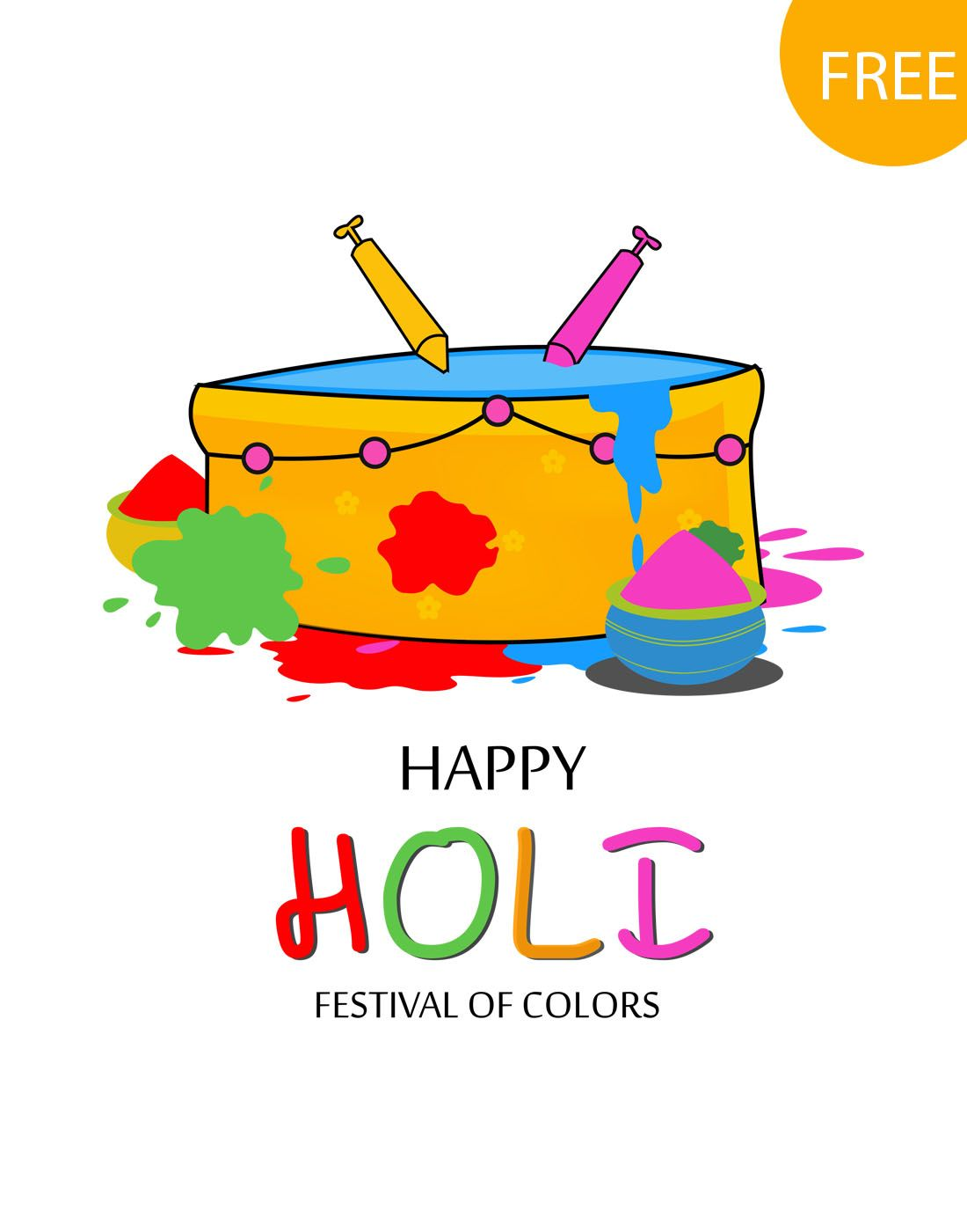 free holi vectors download | Pinterest | Holi, Template and Free