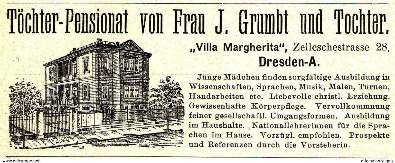 Original Werbung Anzeige 1895 Villa Margherita Grumpt