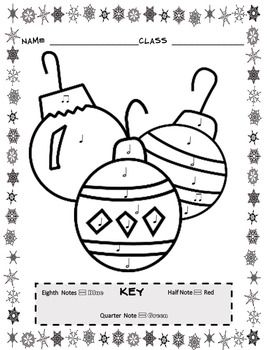 Christmas Color By Note 13 Christmas Music Coloring Sheet Activities Music Coloring Christmas Music Coloring Christmas Music Activities