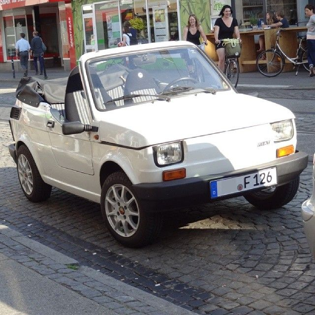 Fiat 126 Cabrio #POP650 ? #fiat126cabrio #fiat126 #convertible #fiat #smallcar #cutecar #instafiat #classicfiat #carporn #carsofinstagram #carworld  #car #auto #instacars #carstagram #vintagecar #classiccar #oldtimer #retrocar #cargram #carspotting #carspotter #soloparking