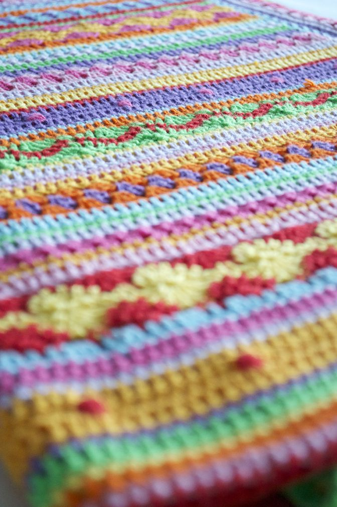 Mooi Rand Cal Deken Haken Crochet It Is Finished En Crochet