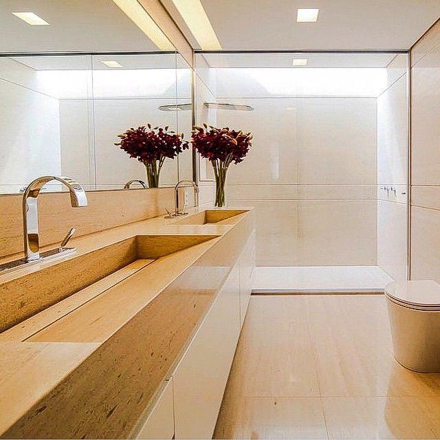 Banheiros com classe  #regram @revistaformas , projeto by #fernandamarquesarquiteta