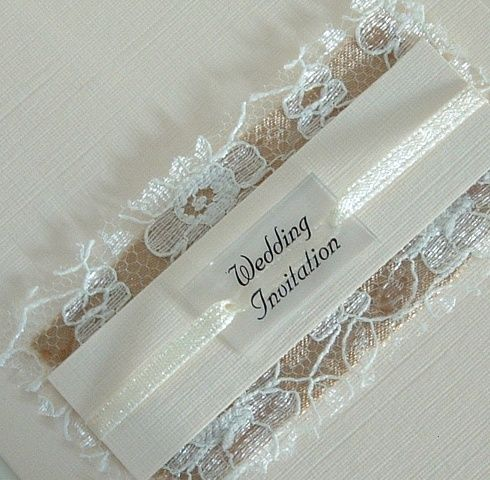 Homemade Wedding Invitations Handmade Invitation Satin Vintage Lace With Clear Perspex