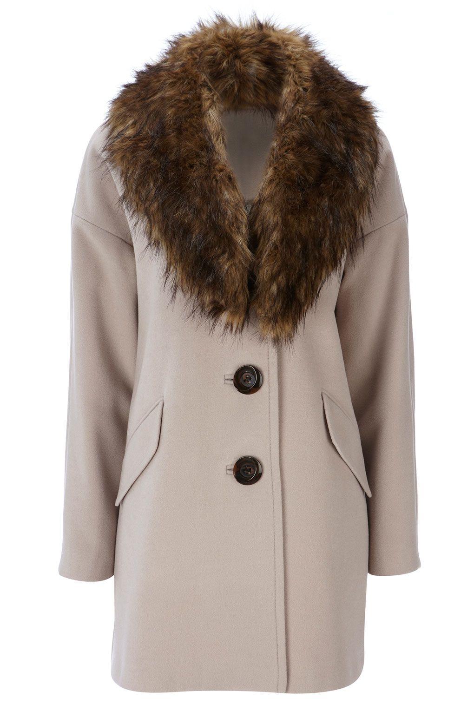 Manteau col fausse fourrure pour femme   5 coups coeurs incroyable à ... 5b2708a556ea