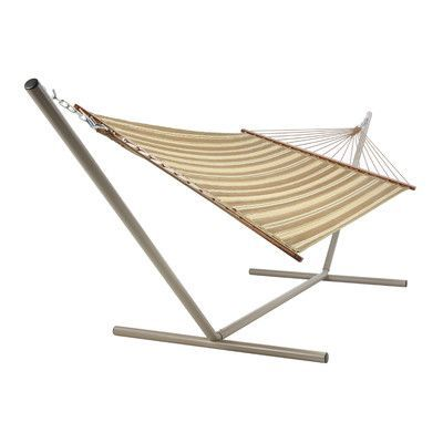 Pawleys Island Castaway Hammocks Quilted Hammock Color: Neutral Stripe