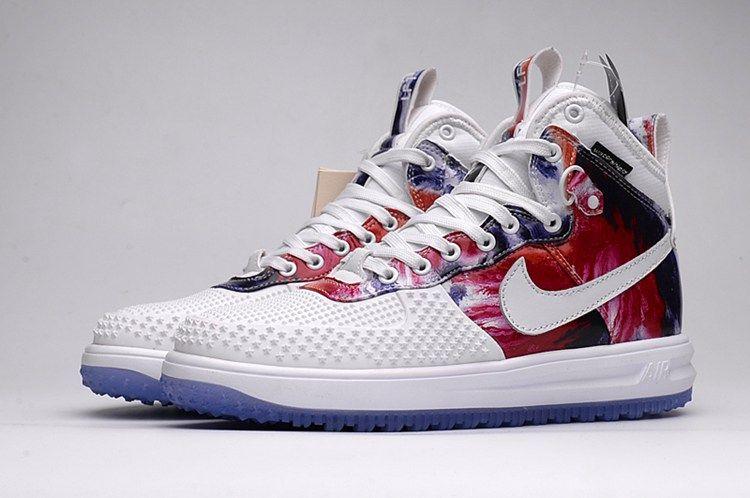 Nike LUNAR FORCE 1 DUCKBOOT Fashion Shoes Men White Red  e4af206fc