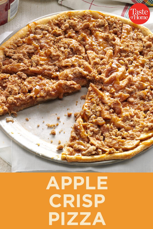 Apple Crisp Pizza Recipe in 2020 Apple crisp pizza