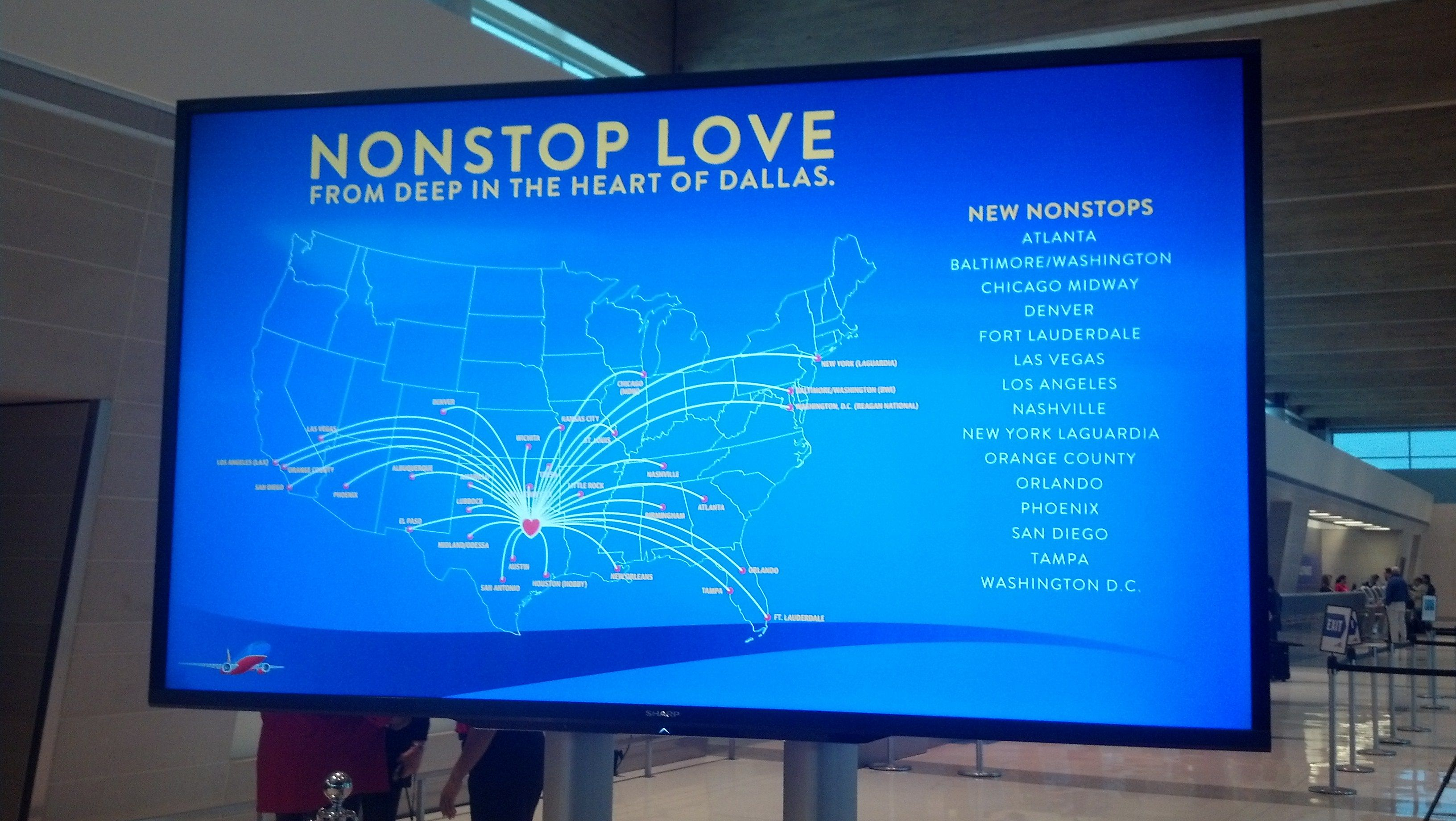 Love field map southwest airlines announced it will fly to