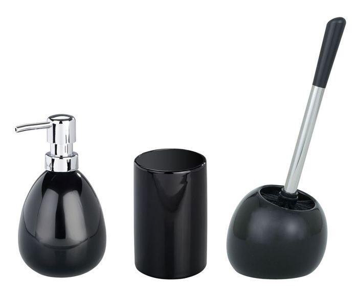 Wenko Badaccessoire Set Polaris Black Bad Accessoires Set Badezimmer Accessoires Badaccessoires