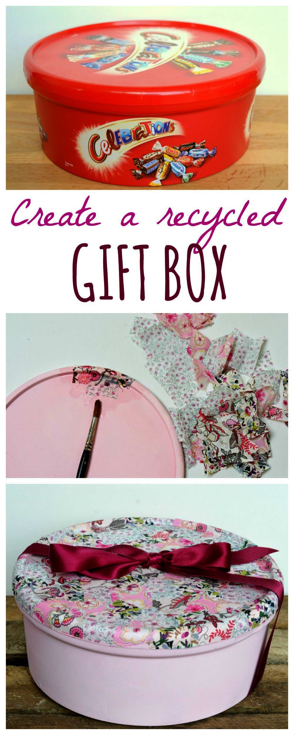 Recycle Sweet Tins Into Gorgeous Boxes Perfect As Diy Gift