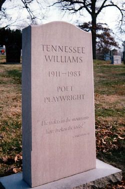 Grave Of Tennessee Williams Calvary Cemetery 5239 West