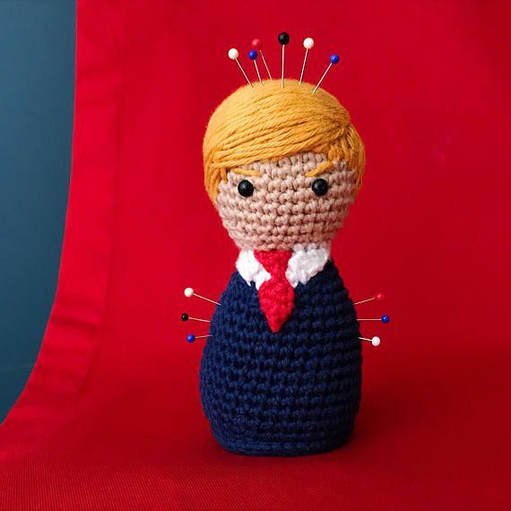 Donald Trump Pincushion crochet pattern