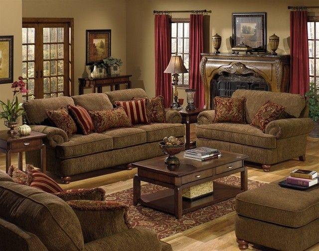 Jackson Furniture Belmont 3 Piece Living Room Set In Diamond Inside