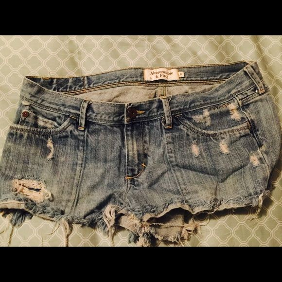 A&F jean shorts Vintage distressed Jean shorts. I love these shorts, the front is different than most. They have a vintage feel to them. All offers welcome Abercrombie & Fitch Shorts Jean Shorts