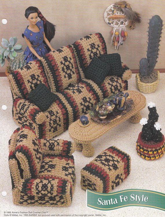 Santa Fe Style, Annie\'s Attic Fashion Doll Furniture Crochet Pattern ...