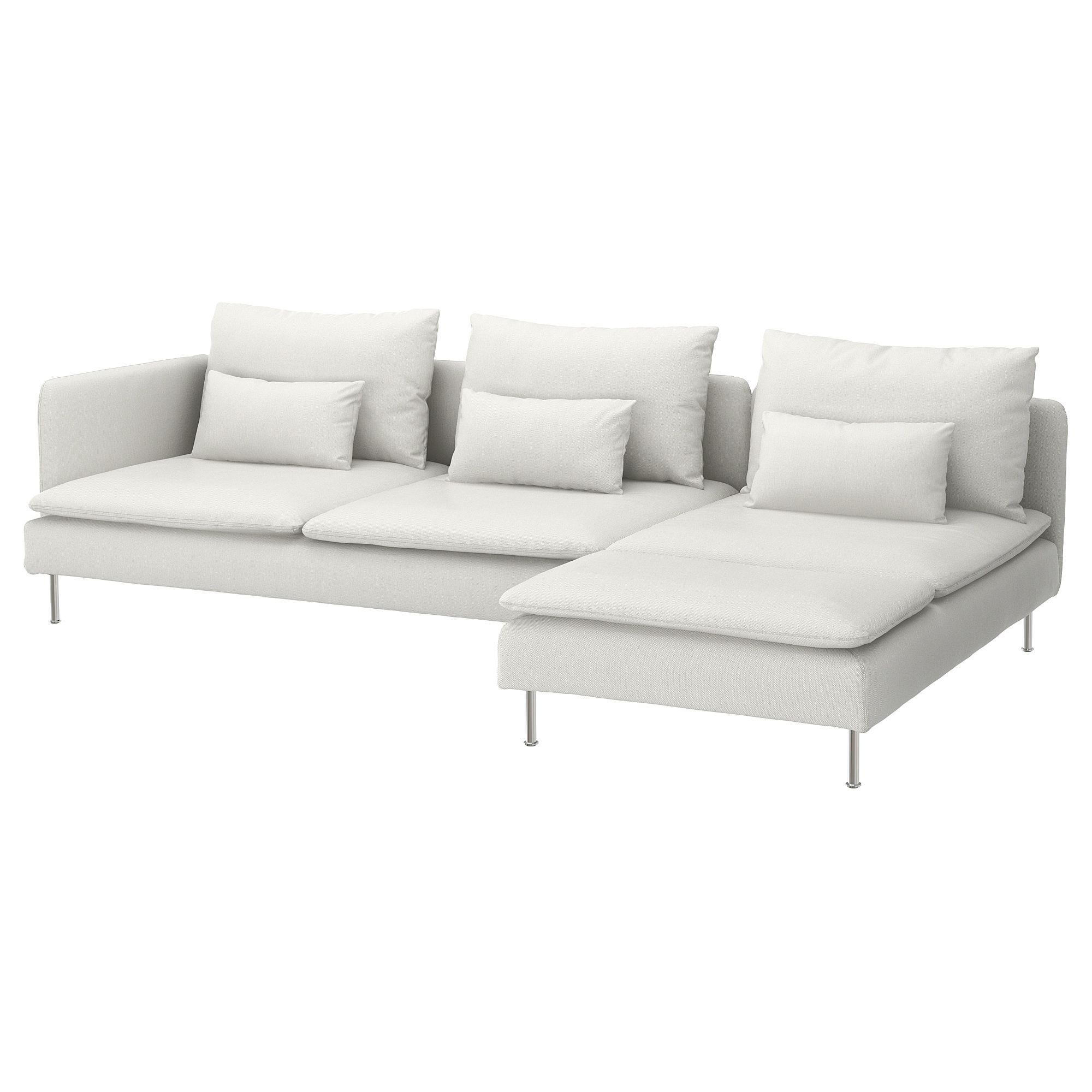 SÖDERHAMN Sectional, 4seat with chaise and open end