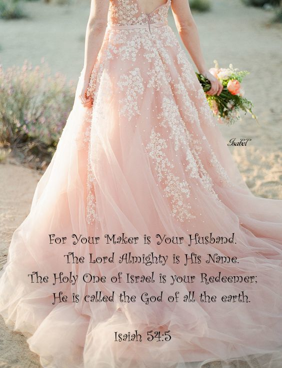 945688c3e94f Isaiah 54:5. ~Isabel~ | God's Sustaining Power | Pink wedding gowns ...