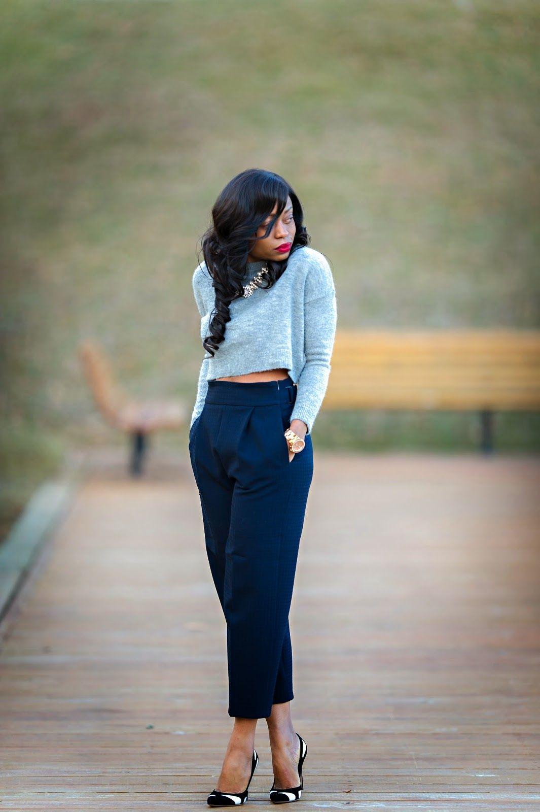 Outfit: Zara culottes  // Zara crop top //