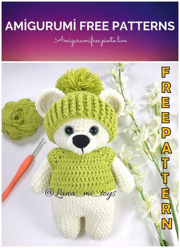 Amigurumi Crochet Teddy Bear (Sevimli Ayı) Pattern Yapılışı | 1024x745