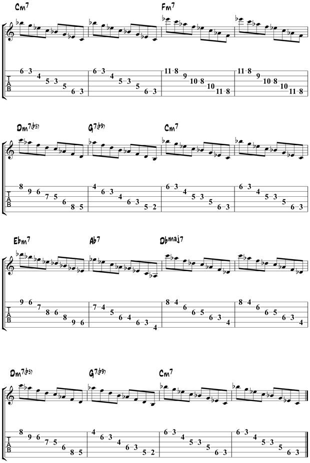 Jazz Guitar Arpeggios 7 While My Guitar Gently Weeps