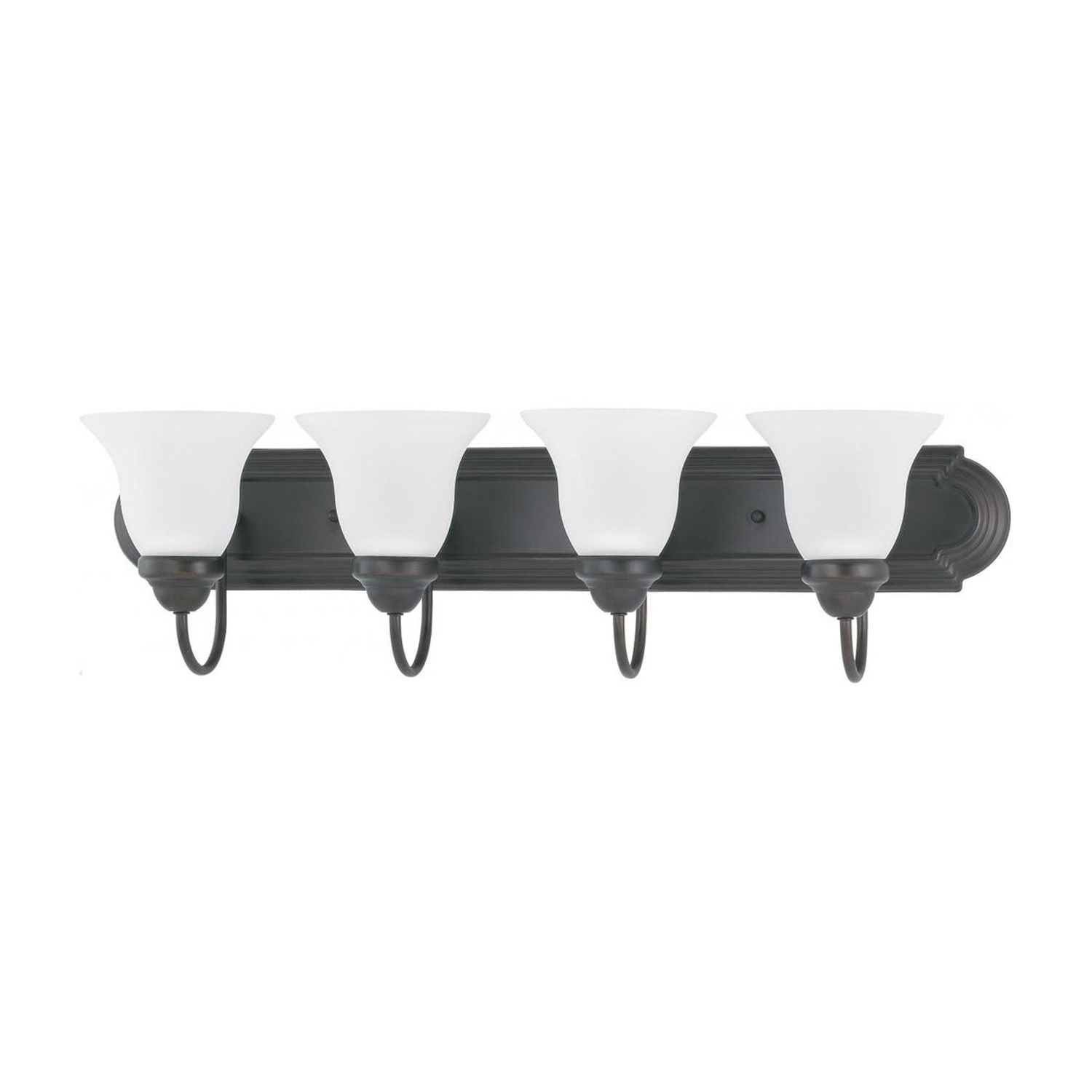 Photo of Satco 4 Globe Bathroom Vanity Light Bar Bath Fixture Frosted Glass Bulbs Included, Bronze