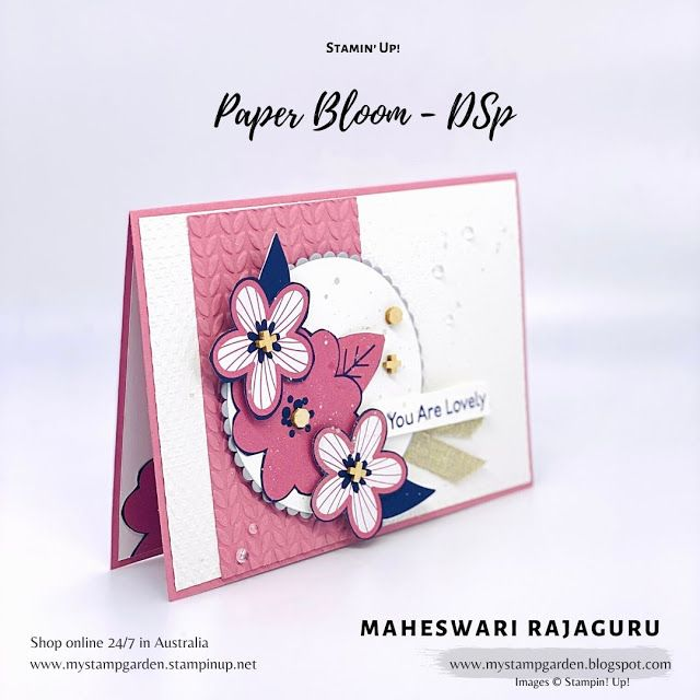 Stampin' Up! Paper Bloom DSP- The Spot Challenge #
