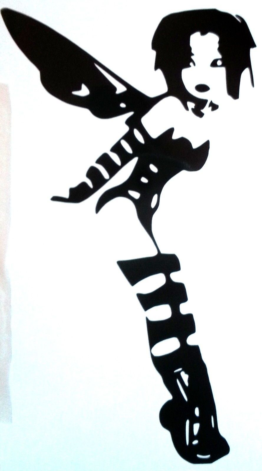 623f260a8 Goth Tinkerbell Wall Decal | Dark Disney | Wall Decals, Mirror vinyl ...