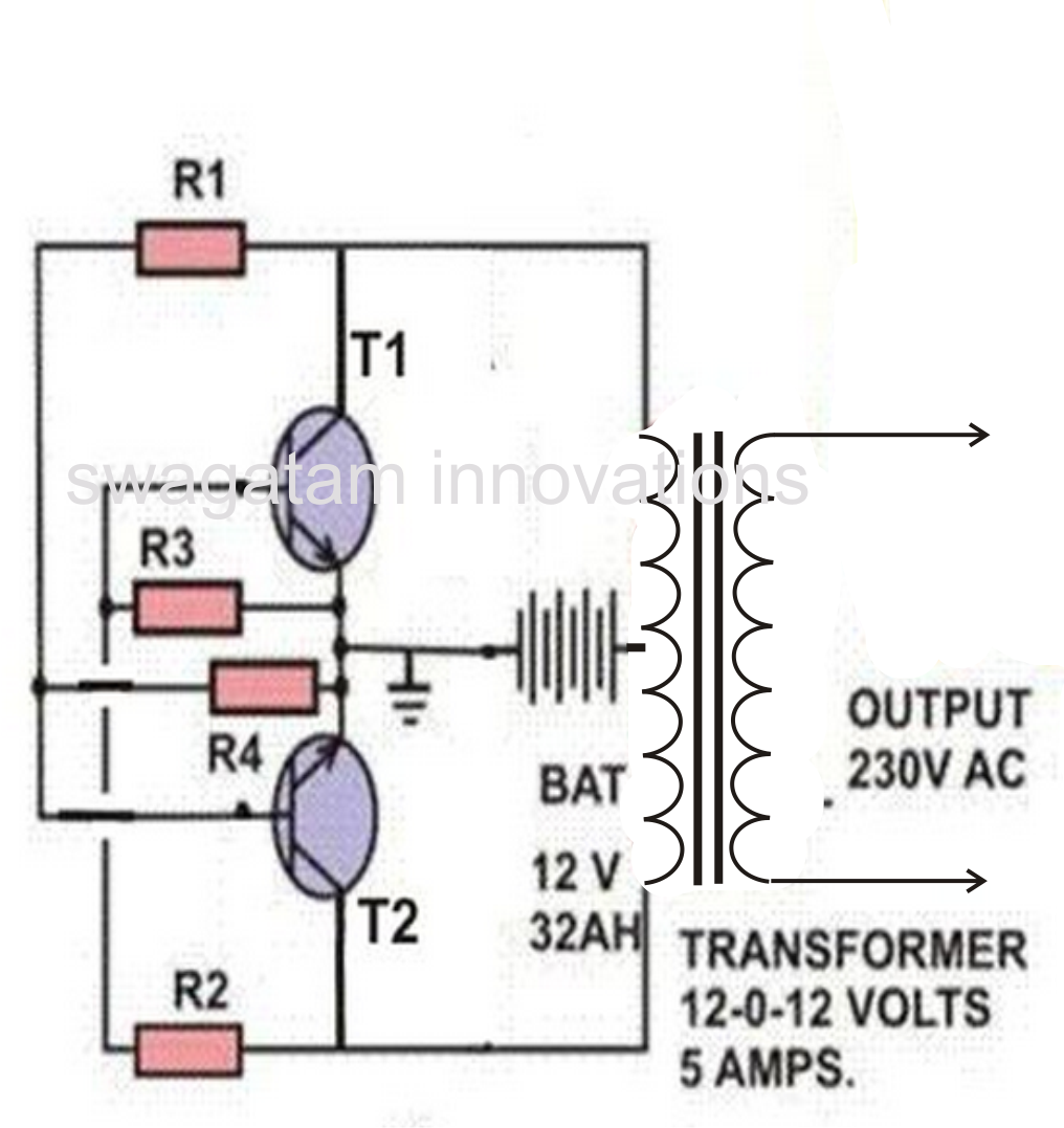 7 simple inverter circuits you can build at home homemade circuit projects [ 1016 x 1077 Pixel ]