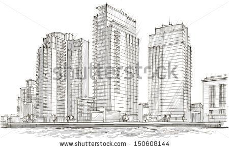 Architectural sketch Idea Drawing City stock vector ART