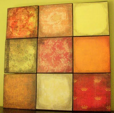 Patchwork wall art using scrapbook paper-I want to make a heart wall ...