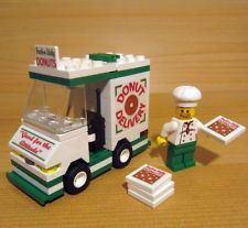 endoplasmic reticulum: this lego pizza truck is like endoplasmic reticulum. in a cell is would, transport food like this pizza truck.